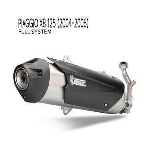 미브 X8 125 어반 스틸 풀시스템 (2004-2006) 머플러 피아지오