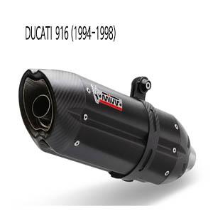 미브 916 (94-98) 수오노 블랙 스틸 슬립온 머플러 두카티