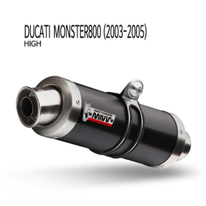 미브 몬스터800 BLACK STEEL (high) GP 슬립온 (03-05)  머플러 두카티