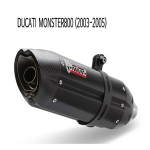미브 몬스터800 수오노 블랙 스틸 슬립온 (03-05)  머플러 두카티