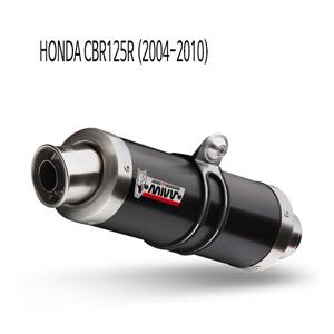 미브 CBR125R (2004-2010) GP 블랙 스틸 풀시스템 머플러 혼다