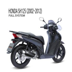 미브 SH125 FULL SYSTEM (2002-2012) 어반 스틸 머플러 혼다