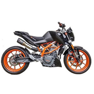 KTM 오스틴레이싱 머플러 도시락 제거용 Duke 390 GP1 High Slung De-Cat exhaust(Titanium pipework)