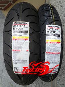 [브릿지스톤 오토바이 타이어]BT021 [120+190세트] 1만키로이상 마일리지