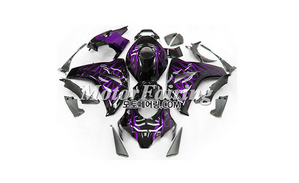 혼다 CBR1000RR 천알알 2008-2011 Black Purple Flame 285 오토바이 사제카울 부품