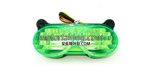테일라이트/데루등/Kawasaki ZX-6R 1998-2002 Tail Light Green 30