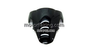 스크린/레이싱/이리듐/클리어/스모그/Suzuki GSX-R1000 03-04 Black 15