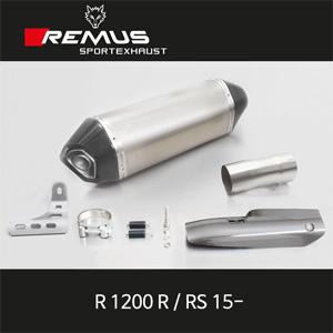 레무스 15-년식 BMW R1200R/RS 카본가드/티탄 EEC 66mm 핵사곤 슬립온 아크라포빅