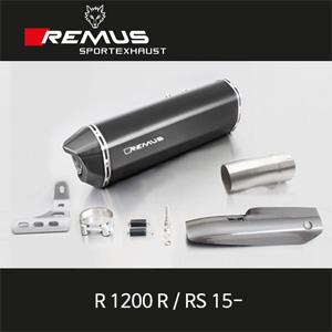 레무스 BMW R1200R/RS 15- 블랙호크 카본가드/스틸블랙 슬립온 EEC 66mm 아크라포빅