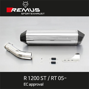 레무스 BMW R1200ST/RT 05- 스테인레스 54mm 슬립온 핵사곤 아크라포빅 EEC