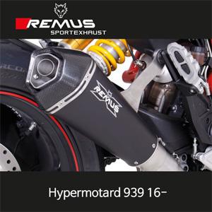 레무스 두카티 하이퍼모타드939 16- 스틸블랙 하이퍼콘 65mm Race (no EEC) 슬립온 아크라포빅