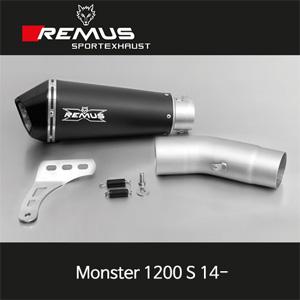 레무스 두카티(14-)몬스터1200S 하이퍼콘 슬립온 스틸블랙 EEC 65mm 아크라포빅