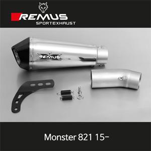 레무스 몬스터821 두카티 15-년식 스테인레스 65mm 하이퍼콘 슬립온 아크라포빅