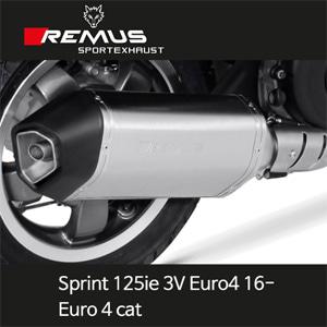레무스 베스파 16-년식 스프린트125ie 3V 유로4 스테인레스가드 65mm(EC) 스포츠 Euro 4 cat. 풀시스템 아크라포빅