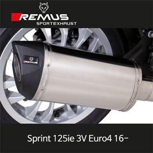 레무스 스프린트125ie 3V 유로4 16- 베스파 스쿠터 스테인레스 RSC (no cat/no heat shield/no EC) 65mm 풀시스템 아크라포빅