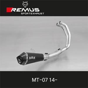 레무스 야마하 MT-07 14- 중통/레이싱용/스틸블랙 RACE (no EEC) 65mm 하이퍼콘 풀시스템 아크라포빅