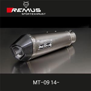 레무스 14-년식 야마하 MT-09 14- 풀시스템 하이퍼콘 중통 레이싱용 티탄 RACE (no EEC) 65mm 메인스탠드 제거용 아크라포빅
