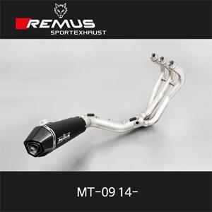 레무스 야마하 MT-09 14- 하이퍼콘 스틸블랙 RACE (no EEC) 중통 레이싱용 65mm 풀시스템 아크라포빅