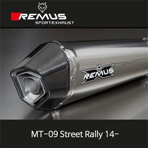 레무스 야마하 MT-09스트리트랠리 14- (no EEC) 하이퍼콘 레이싱용 스테인레스 RACE 중통 65mm 풀시스템 아크라포빅