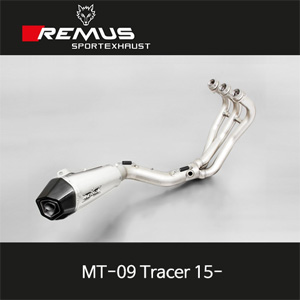 레무스 야마하 MT-09트레이서 15-년식 스테인레스 RACE (no EEC) 65mm 중통 하이퍼콘 레이싱용 풀시스템 아크라포빅