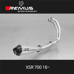 레무스 야마하 (16-)XSR700 중통 레이싱용 스테인레스 RACE (no EEC) 65mm 풀시스템 하이퍼콘 아크라포빅