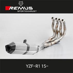 레무스 야마하 YZF-R1 15- 핵사곤 하이퍼포먼스 스텐인레스 메니폴더 풀티탄 머플러 앤드 풀시스템 아크라포빅