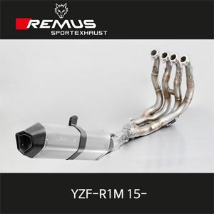 레무스 야마하 YZF-R1M(15-) 핵사곤 하이퍼포먼스 스테인레스 중통(4-2-1)&풀티탄 스테인레스 RACE (no EEC) 풀시스템 아크라포빅