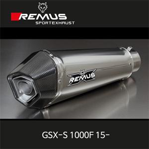 레무스 스즈키 15-년식 GSX-S1000F 하이퍼콘 슬립온 스테인레스가드 EEC 아크라포빅