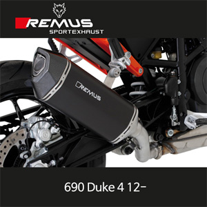 레무스 690듀크4 12-  KTM 블랙호크 스틸블랙 EEC 슬립온 아크라포빅