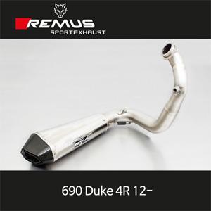 레무스 690듀크4R 12- KTM 스테인레스 race 하이퍼콘 (no EEC) 풀시스템 아크라포빅