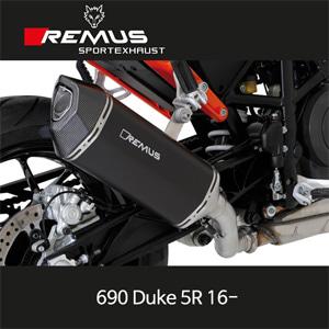 레무스 690듀크5R 2016- KTM EEC 블랙호크 슬립온 스틸블랙 아크라포빅