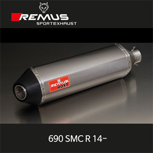 레무스 690SMC R KTM 14- 티탄 RACE ROXX no cat/no EEC 좌측용 54mm 슬립온 아크라포빅