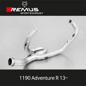 레무스 KTM 1190어드벤처R(13-) 중통 스테인레스(2 - 1) no cat. 중통 스테인레스RACE (no EEC) 매니폴더 아크라포빅
