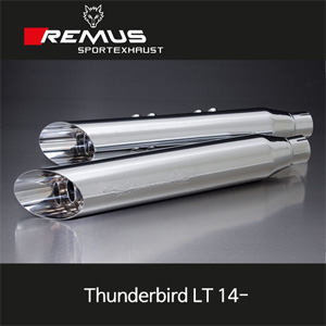 레무스 트라이엄프 썬더버드 LT (14-) 커스텀 slash cut 좌/우 Ø102mm(4'') 스테인레스 크롬 EEC 슬립온 아크라포빅