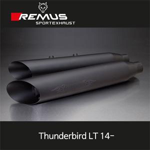 레무스 트라이엄프 14-년식 썬더버드 LT 스틸블랙 EEC 커스텀 slash cut Ø102mm (4'') 좌/우 슬립온 아크라포빅