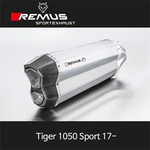 레무스 타이거1050Sport 17- 트라이엄프 레무스8 무광 스테인레스 65mm EC 슬립온 아크라포빅