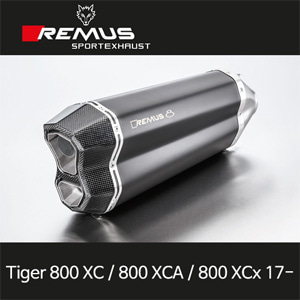 레무스 타이거800XC/800XCA/800XCx(17-)트라이엄프 레무스8 슬립온 스틸블랙 65mm EC 아크라포빅