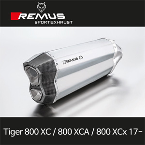 레무스 타이거800XC/800XCA/800XCx 트라이엄프 17- 레무스8 무광 스테인레스 65mm 슬립온 EC 아크라포빅