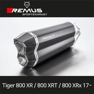 레무스 타이거800XR/800XRT/800XRx 트라이엄프(17-) 레무스8 스틸블랙 65mm EC 슬립온 아크라포빅