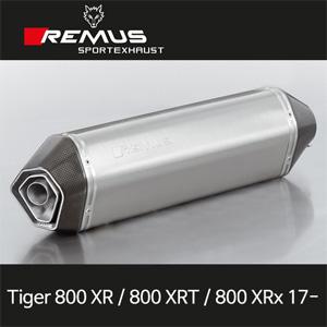 레무스 트라이엄프 타이거800XR/800XRT/800XRx 2017- 티탄 54mm 핵사곤 슬립온 EC 아크라포빅