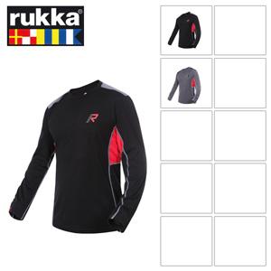 [루카 오토바이 언더웨어 용품]Rukka Dani Longe Sleeve T-Shirt (Grey/Black)