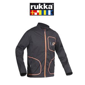 [루카 오토바이 언더웨어 용품]Rukka Alpha Softshell Jacket (Black/Orange) - 여성용