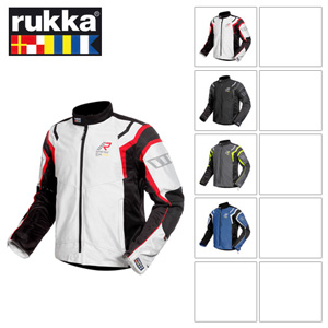 [루카 오토바이 자켓 용품]Rukka 4Air GORE-TEX (White/Black/Red)