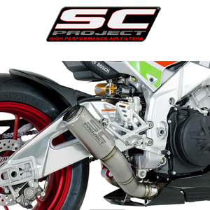 SC프로젝트 APRILIA RSV4 RF/RR '17 CR-T Silencer-Low position Full titanium with titanium mesh on the exit of the silencer