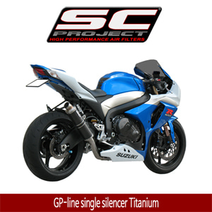SC프로젝트 GSX-R1000 '09-11 GP-line single silencer Titanium