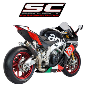 SC프로젝트 APRILIA RSV4 RF/RR '15-16 GP65 Silencer Carbon fiber with CNC-machined exit pipe