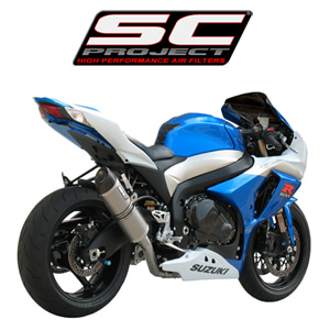 SC프로젝트 GSX-R1000 '09-11 Short Oval-line single silencer Titanium with carbon cap