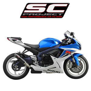 SC프로젝트 GSX-R600/750 '11-16 GP M2 silencer Carbon fiber with CNC-machined exit pipe