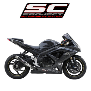 SC프로젝트 GSX-R600/750 '08-10 GP M2 Silencer Carbon fiber with CNC-machined exit pipe