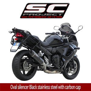 SC프로젝트 GSF1250 BANDIT Oval silencer Black stainless steel with carbon cap